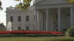 White House - left side Stock Footage