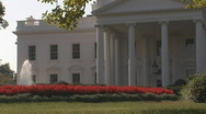 Stock Video Footage of White House - left side