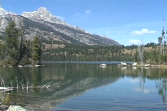 Tagert Lake, Grand Teton National Park, Wyoming Stock Footage