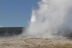 Stock Video Footage of Old Faithful erupts in Yellowstone National Park, Wyoming