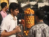 Stock Video Footage of Amman, Jordan: Orange juice vender