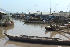 Cambodia: Floating village Stock Footage