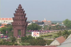Cambodia: Independance Monument Stock Footage