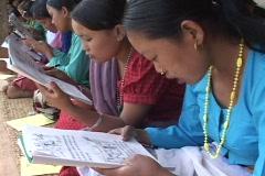 Nepal: Women read at a Women's literacy program Stock Footage