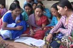 Nepal: Women's literacy program Stock Footage