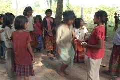 Cambodia: Girl skips Stock Footage