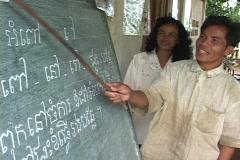 Cambodia: Adult literacy program Stock Footage