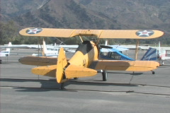 World War Bi-Plane Stock Footage