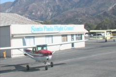 Cessna at Santa Paula Flight Center Stock Footage