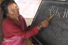 Nepal: Literacy training Stock Footage
