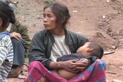 Laos: Mother and Baby  Stock Footage