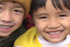 Vietnam: Faces of excited Children - stock footage