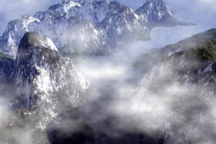 Mountains Under Clouds Stock Footage