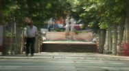 Old man in street Stock Footage