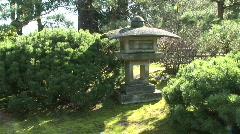 HD - Japanese Stone Lantern Stock Footage