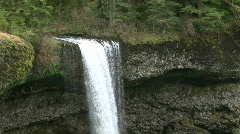 Silver Falls Waterfall at Silver Falls State Park in Oregon Stock Footage