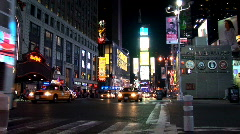 Static of Times Square New York Night NY001 Stock Footage