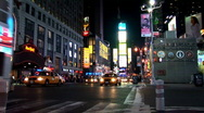 Stock Video Footage of Static of Times Square New York Night NY001