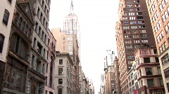Empire State Building track from Sreet New York (NY019) - stock footage
