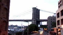 Look Back at bridge New York (NY023) Stock Footage