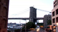 Stock Video Footage of Look Back at bridge New York (NY023)