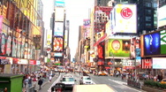 Driving out of Times Square, New York (NY030) Stock Footage