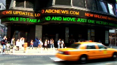 Times Square ESPN Board (NY035) Stock Footage