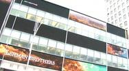 Times Square Lehman Monitors New York (NY037) Stock Footage