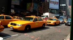 Traffic Yellow Taxis Times Square New York (NY062) Stock Footage