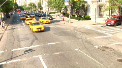 Traffic Yellow Taxis New York (NY063) Stock Footage