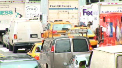 CU Traffic Gridlock New York (NY068) Stock Footage
