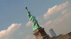 Statue to New York Angled NY087 Stock Footage