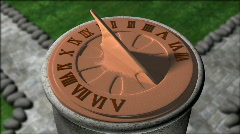 Classical Sundial - stock footage