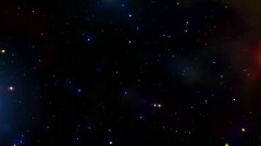 Colour Star field HD 720P Stock Footage