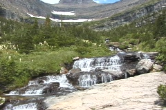 Glacier Mountain Stream NS DV NTSC Stock Footage