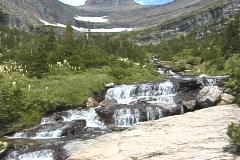 Glacier Mountain Stream NS DV NTSC - stock footage