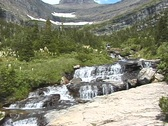 Stock Video Footage of Glacier Mountain Stream NS DV NTSC