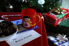 Milk and brownies for Santa Stock Footage