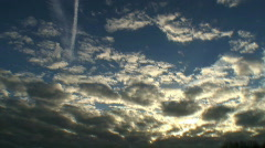 Clouds time lapse Stock Footage