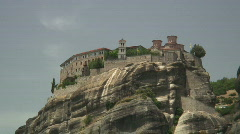 Meteora 09 zoom out / Greece Stock Footage