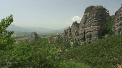 Meteora 13 zoom in / Greece Stock Footage