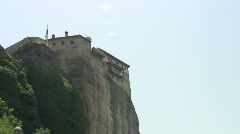 Meteora 15 zoom in / Greece Stock Footage