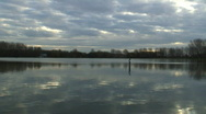 Lake in the morning Stock Footage