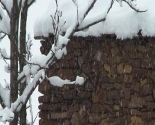 Winter-Snow-Pyrenees Stock Footage