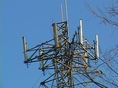 Cable tower 1 Stock Footage