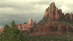 Sculpted Red Rock Formations of Sedona, Arizona Stock Footage