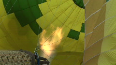 Flame inside a hot air balloon Stock Footage