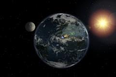 Earth Moon Loop 30 2997 Stock Footage