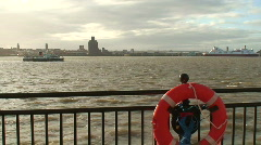 Ferry on the River Mersey Liverpool. HD 1080i - stock footage