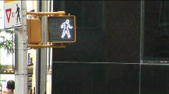 Crossing sign Stock Footage